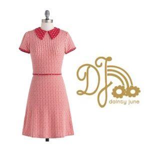 DAINTY JUNE VINTAGE INSPIRED DRESS SZ 10 MODCLOTH